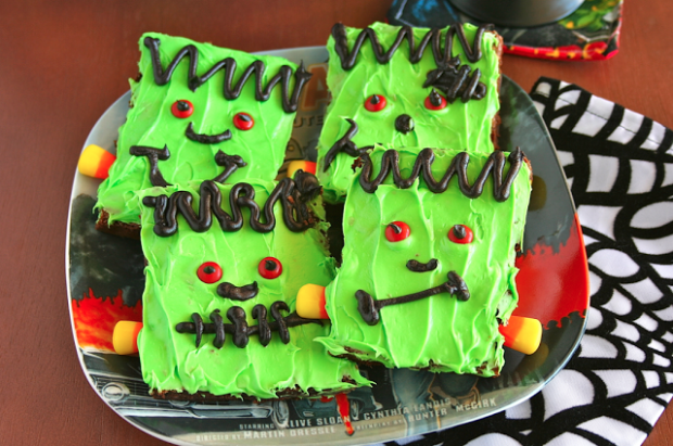 frankenstien brownies