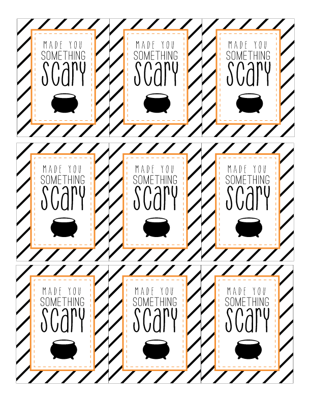 Clean image with free printable halloween gift tags
