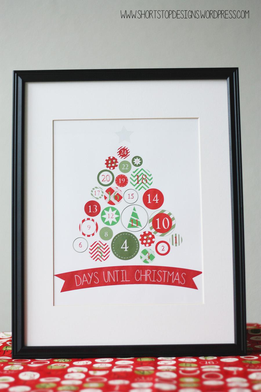 Christmas Tree Countdown Free Printable  
