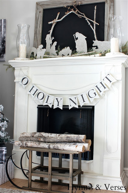 2013 Christmas Mantel DIY Silhouette Nativity
