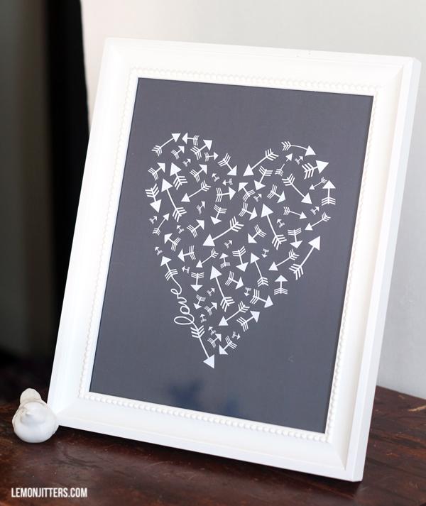 love heart print2
