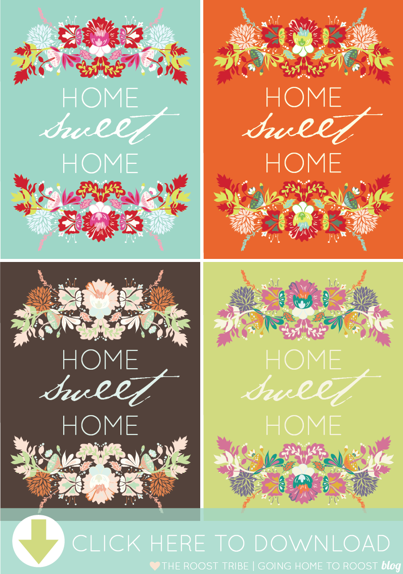 This is an image of Handy Home Sweet Home Printable