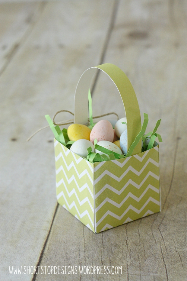 Mini Easter Basket Green