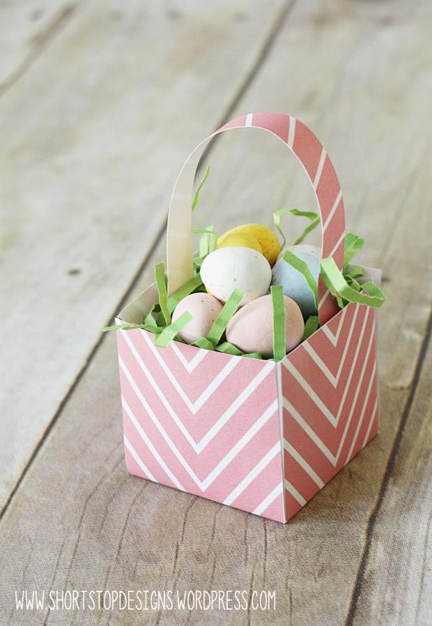 Mini Easter Basket Pink
