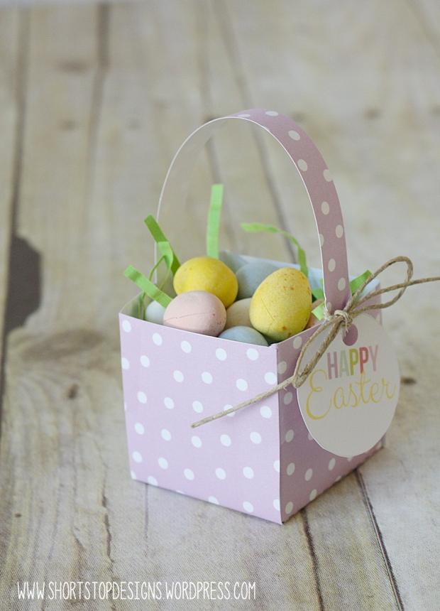 Mini Easter Basket Purple