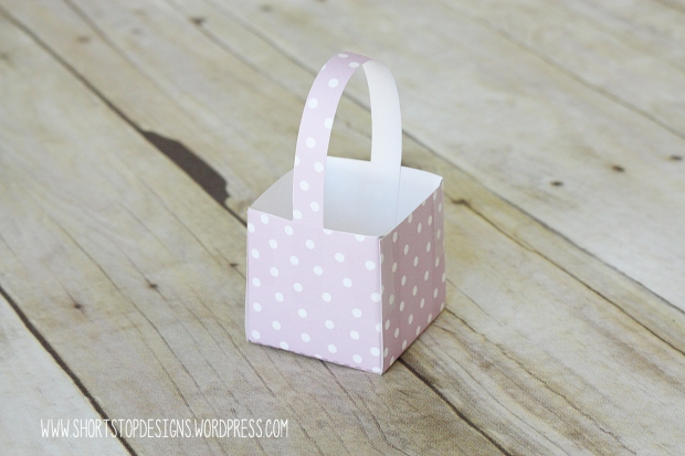 Mini Easter Basket Tutorial Handle