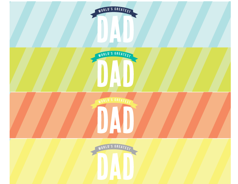 father's day card word templates